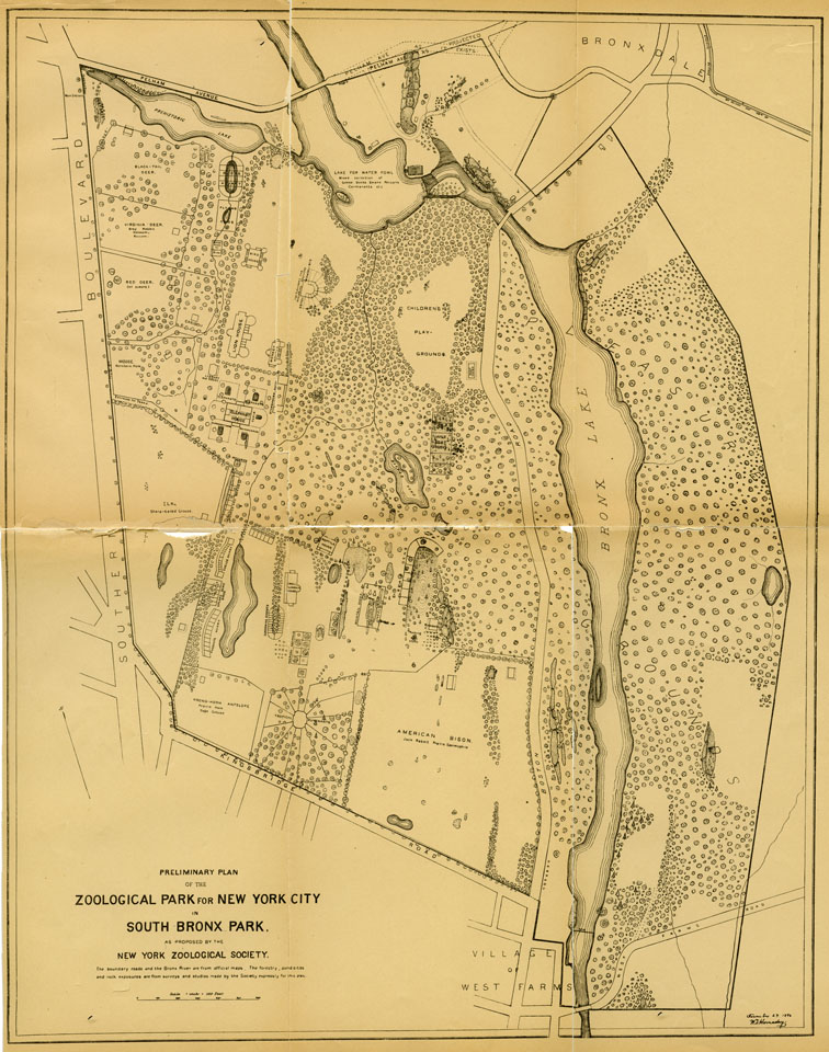 1896 plan for Bronx Zoo